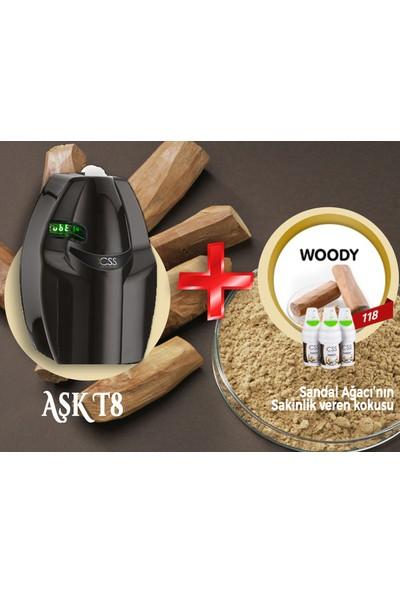 Css T8 400 M2 Kapasiteli Siyah Profesyonel Koku Makinesi&woody Koku Kartuşu