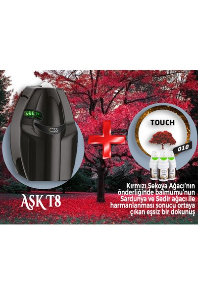 Css T8 400 M2 Kapasiteli Siyah Profesyonel Koku Makinesi&touch Koku Kartuş