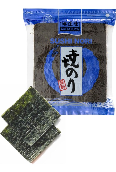 Kaitatuya Sushi Nori Blue Yaprak Yosun 50'li