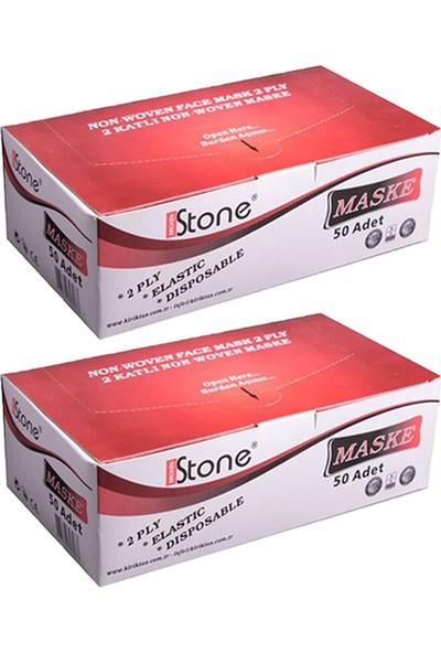 Stone Tek Kullanımlık Telli Lastikli Cerrahi Yüz Maskesi 50 Adet 2'li