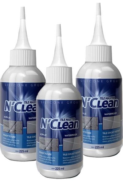N'Clean Tile Master Silikonlu Derz Dolgusu 225 ml Gri 3'lü