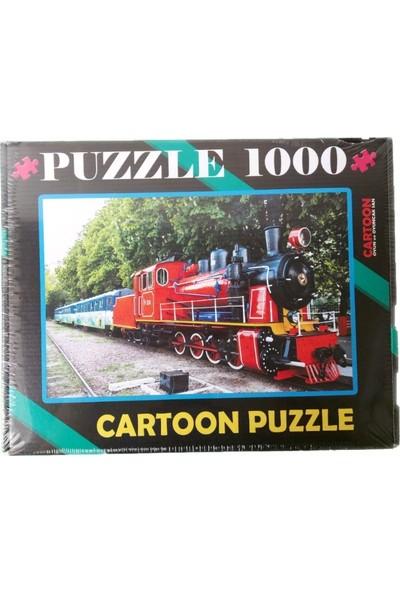 Cartoon 1000 Parça Puzzle Tren