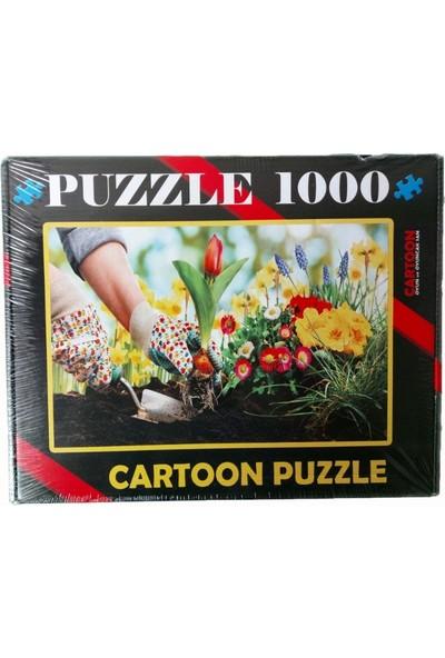 Cartoon 1000 Parça Puzzle Çiçek