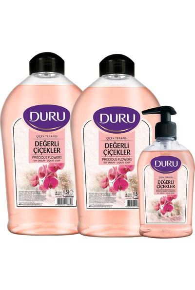 Duru Çiçek Terapisi Değerli Çiçekler Sıvı Sabun 1.5 lt & 1.5lt & 300 ml
