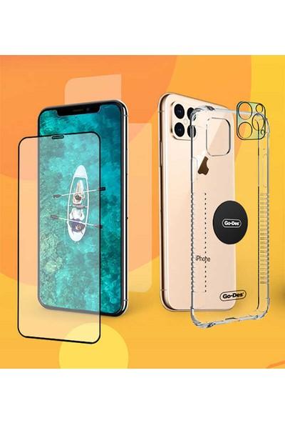 Fujimax Samsung Galaxy S20 Ultra Ön ve Arka Koruyucu + Şeffaf Silikon Kılıf + Kamera Koruyucu + Manyetik Tutucu Levhalı 5in1 Set