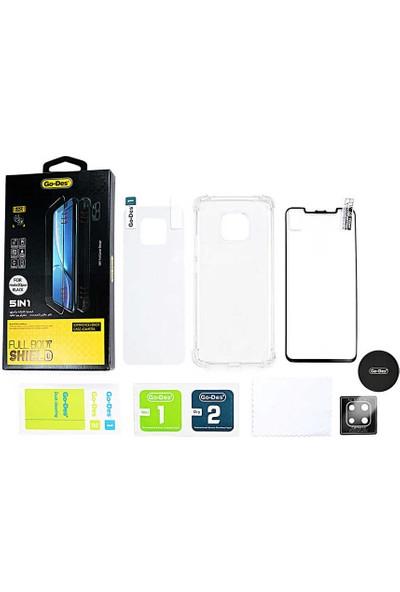 Fujimax Samsung Galaxy S9 Ön ve Arka Koruyucu + Şeffaf Silikon Kılıf + Kamera Koruyucu + Manyetik Tutucu Levhalı 5in1 Set