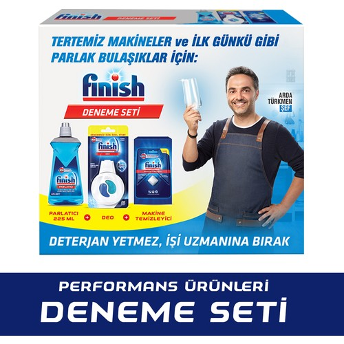 Performans Ürünleri Deneme Seti (Makine Kokusu 20 yıkama-Parlatıcı 225 ml-Makine Temizleyici Tablet)