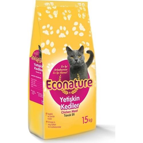 Econature Yetişkin Tavuklu Kedi Maması 15kg