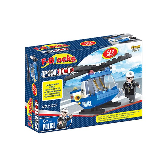 Furkan Toys F-Blocks Polis Seri 47 Parça