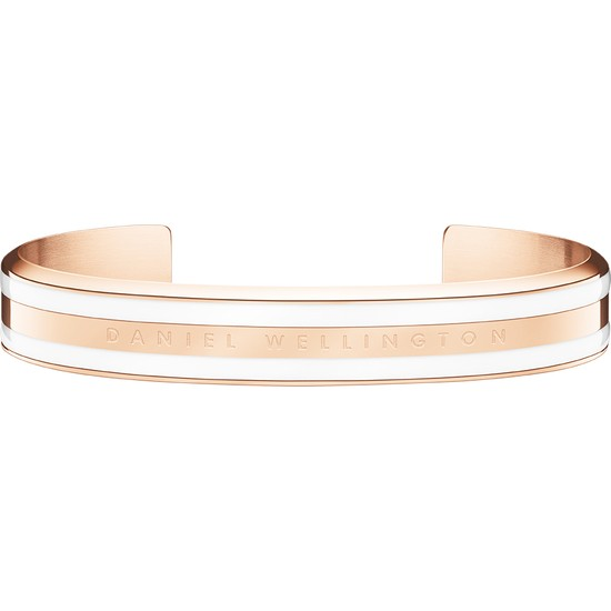 Classic Bracelet Satin White Rose Gold Small -