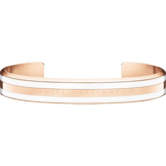 Classic Bracelet Satin White Rose Gold Medium - Unisex