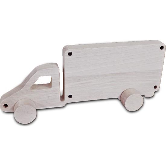 Omca Ahsap Oyuncak Kamyonet Model Araba Masif Ahsap
