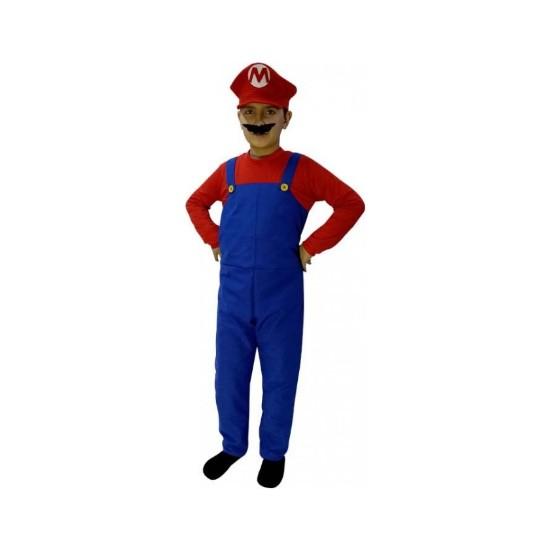 Kostümce Süper Mario Kostümü 7 - 8 Yaş