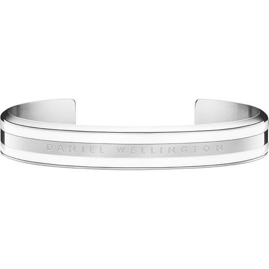 DANIEL WELLINGTON Classic Bracelet Silver Satin White Small - Kadın Için