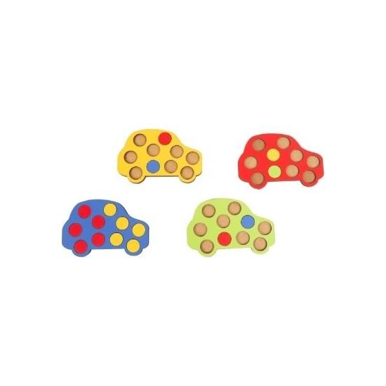 Mofy Baby Eğitici Ahşap Mozaik Araba Oyunu