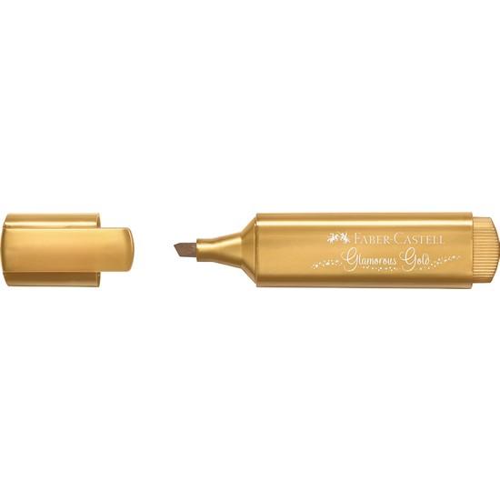 Faber-Castell Fosforlu Kalem 46 Metalik Altın 10'lu