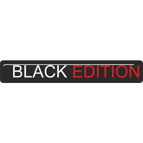 Sticker Fabrikası Black Edition Sticker 20 x 2,5 cm Renkli