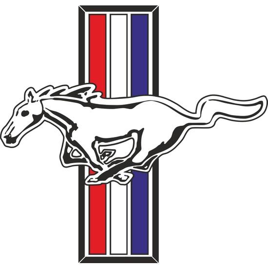 Sticker Fabrikası Mustang Sticker 9 x 8,5 cm Renkli