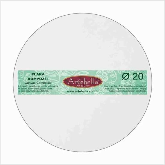 Artebella Kompozit Plaka Yuvarlak 20 cm
