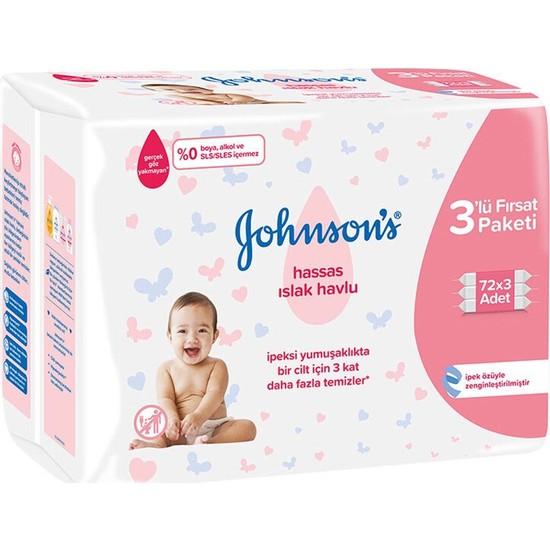 Johnson's Baby Hassas Islak Havlu 3 x 72'li
