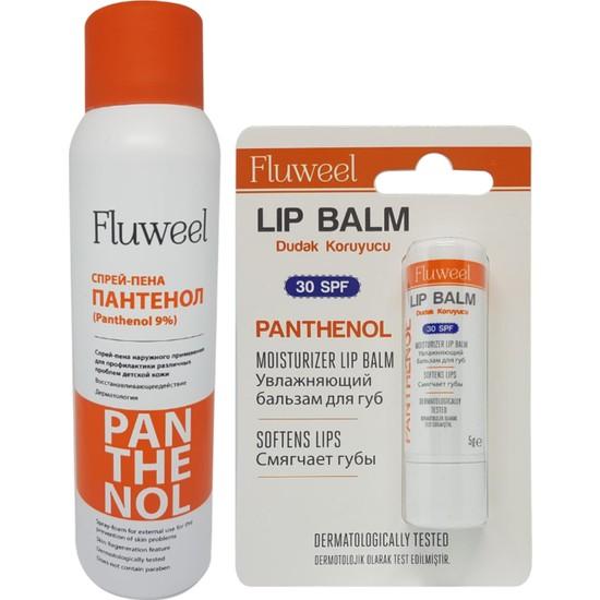 Fluweel Panthenol Sprey ve Dudak Koruyucu Lip Balm