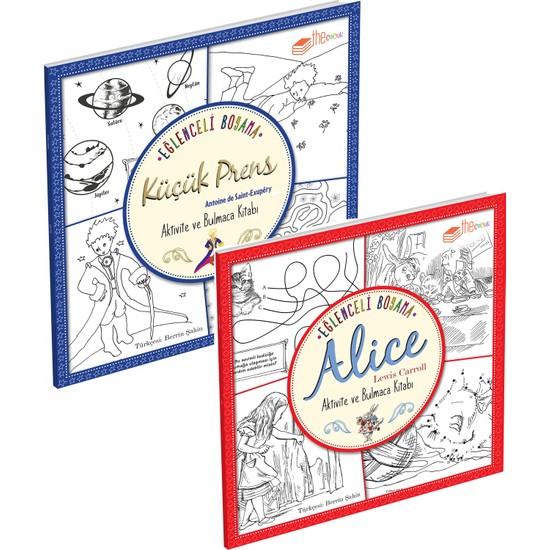 Eğlenceli Boyama Alice ve Küçük Prens Seti (2 Kitap)