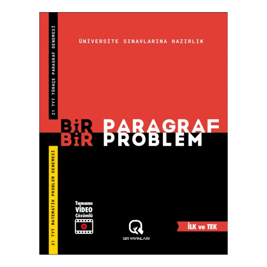 Arya Yayıncılık Bir Paragraf Bir Problem Video Çözümlü Sınava Hazırlık Kitabı
