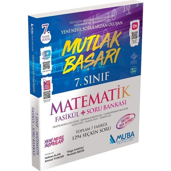 Muba Yayınları Mutlak Başarı 7.sınıf Matematik Fasikül + Soru Bankası