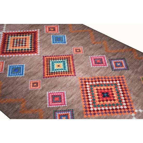 Halı Special Karışık Renk Yıkanabilir Ince Kilim - HB2015 77 x 150 cm