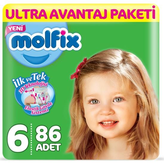 Molfix Bebek Bezi 6 Beden Extra Large Ultra Avantaj Paketi 86 adet