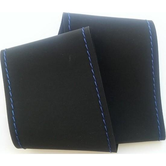 Protec Alcantara Model Mavi Dikişli Oto Direksiyon Kılıfı