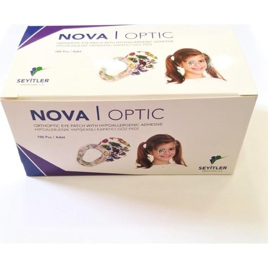 Nova Optik Göz Kapama Bandı - Göz Pedi - Renkli Desenli - Çocuk - 100 Adet
