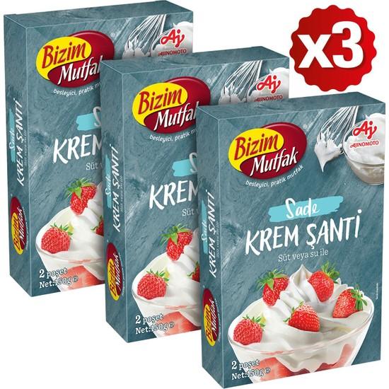 Bizim Mutfak Krem Şanti 2'li 150 gr 3'lü Paket