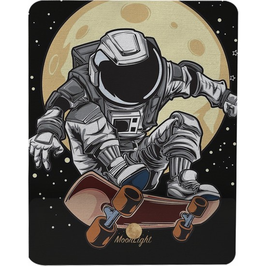 Gameboss Skateboard Astronot Bilek Destekli Tasarım Mouse Pad