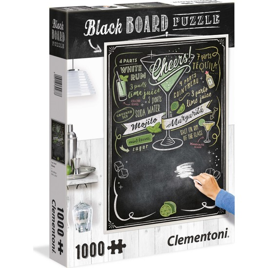 Clementoni - 1000 Parça Blackboard Yetişkin Puzzle - Cheers