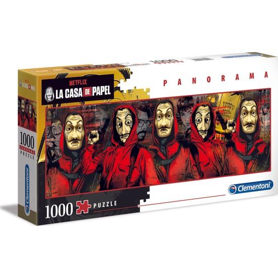 Clementoni - 1000 Parça La Casa De Papel Yetişkin Puzzle - Panorama