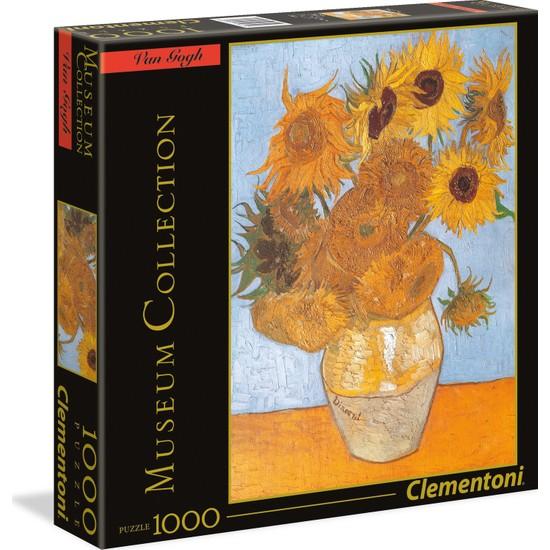 Clementoni - 1000 Parça Museum Collection Yetişkin Puzzle - Sunflowers - Van Gogh