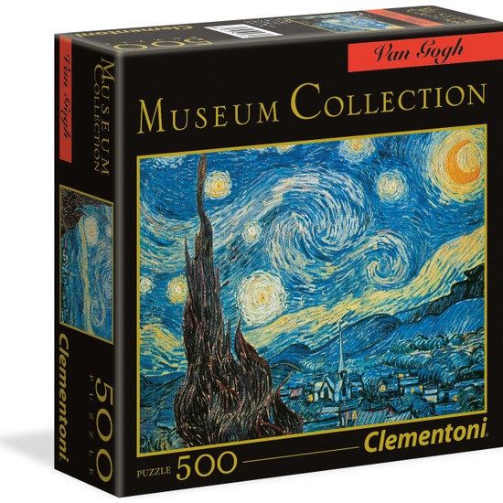 Clementoni - 500 Parça Museum Collection Yetişkin Puzzle - Stary Night - Van Gogh