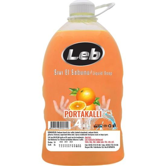 Leb Sıvı El Sabunu Portakallı 4 lt