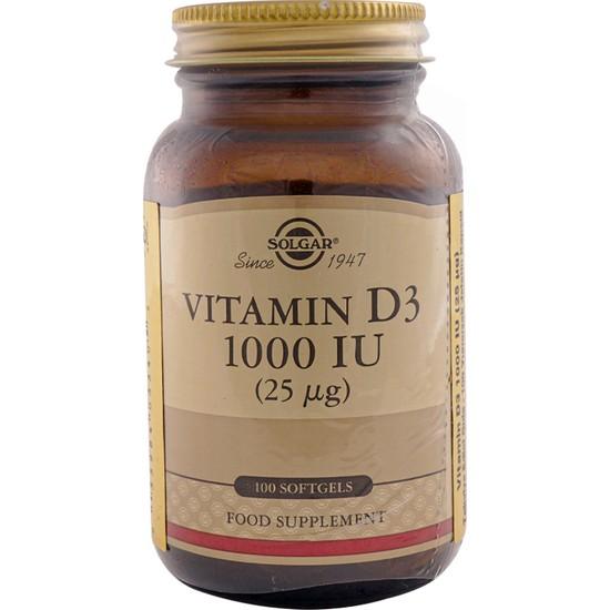 Solgar Vitamin D3 1000 IU 100 Kapsül
