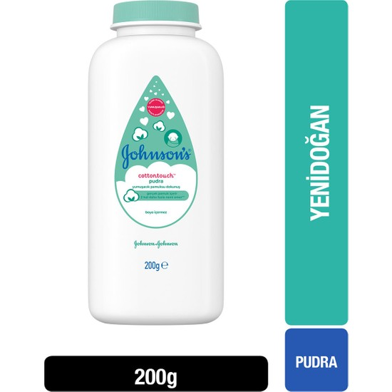 Johnson's Baby Pudra Cotton Touch Yenidoğan 200 gr