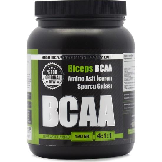 Biceps Bcaa Yeşil Elma Aromalı 120 gr 24 Servis