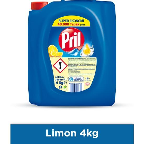 Pril Limon Sıvı Elde Yıkama Bulaşık Deterjanı, 4000gr