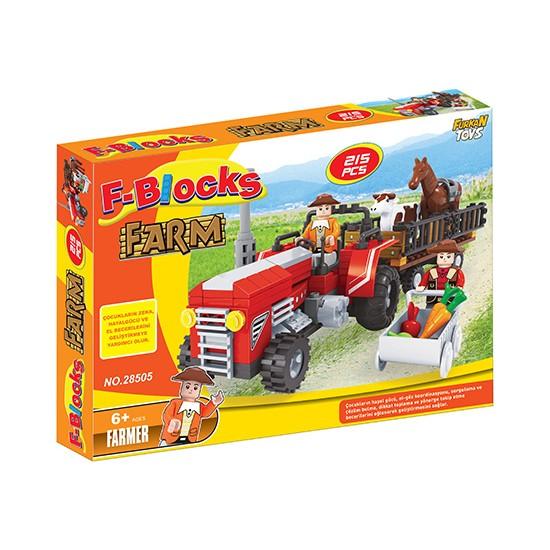 Furkan Toys F-Blocks Farm Series - Çiftlik Seri 215 Parça