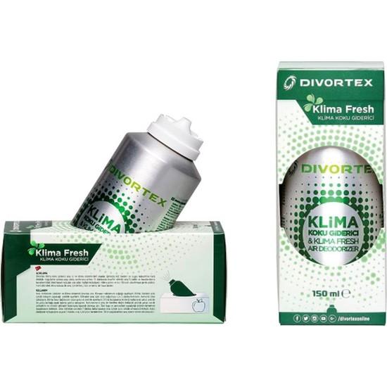Divortex Klima Fresh - Temizleyici Klima Bombası Yeşil Elma 2 x 150 ml