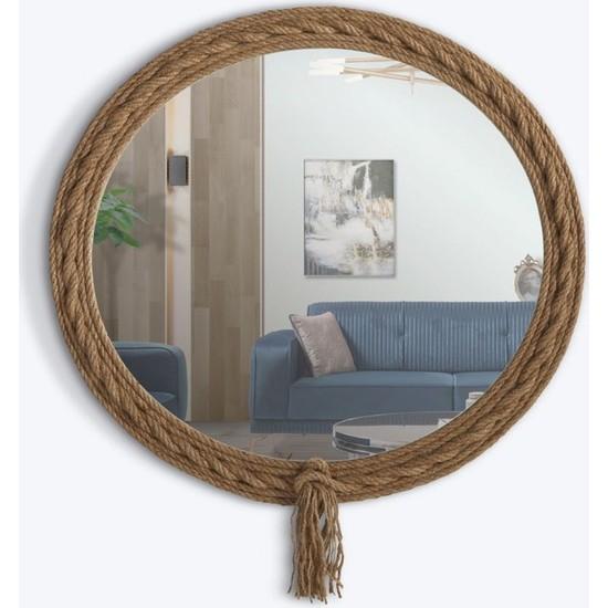 Dekorbizden Dekoratif Halat Ayna