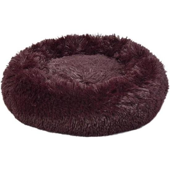 Dubex Ponchik Yuvarlak Kedi Köpek Yatağı Bordo S