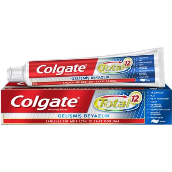 Colgate Total 12 Gelişmiş Beyazlık Diş Macunu 50 ml