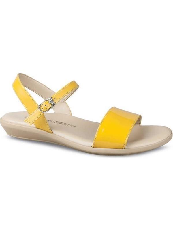 Ceyo 9827-18 Sarı Sandalet Anatomik Terlik