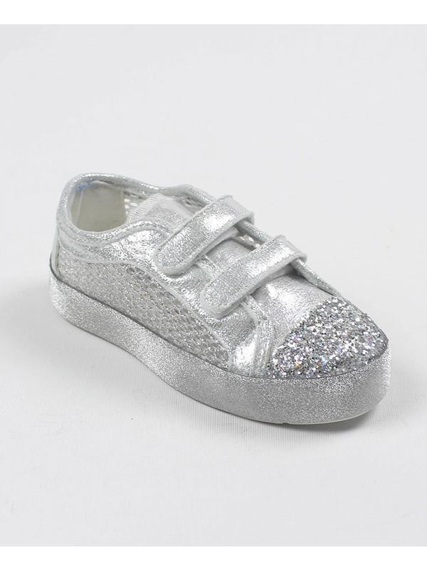 Chaton D'or Kız Çocuk Yüksek Taban Süslü Bez Ayakkabı